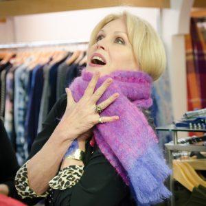Joanna Lumley in Avoca Scarf