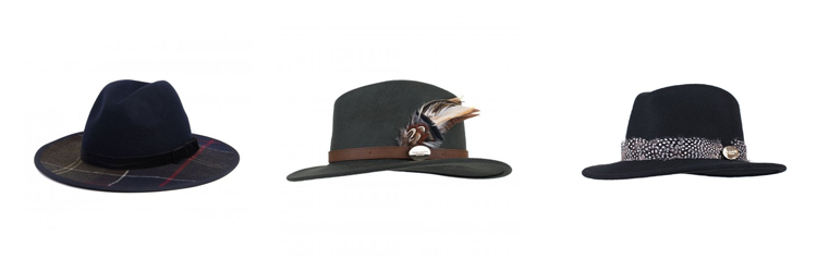 Ladies Fedora Hats from Barbour and Hicks & Brown