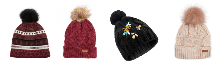 Ladies Beanies by Barbour, Dents and Ruby & Ed