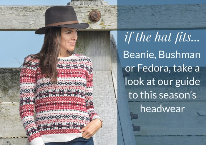 if the hat fits... Beanie, Bushman or Fedora, take a look at our guide to this season's headwear