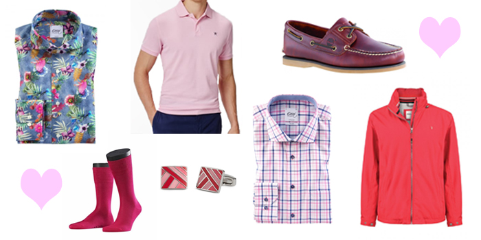 Men's clothes and accessories for Valentine's Day