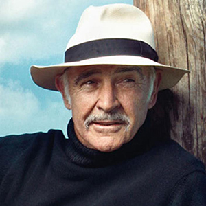 Sean Connery in a Panama Hat