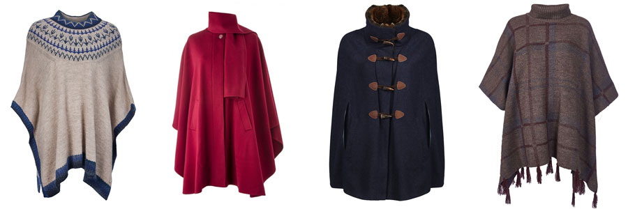 Cloaks by Barbour, Avoca and Dubarry