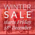 Winter Sale Starts Friday 28th November