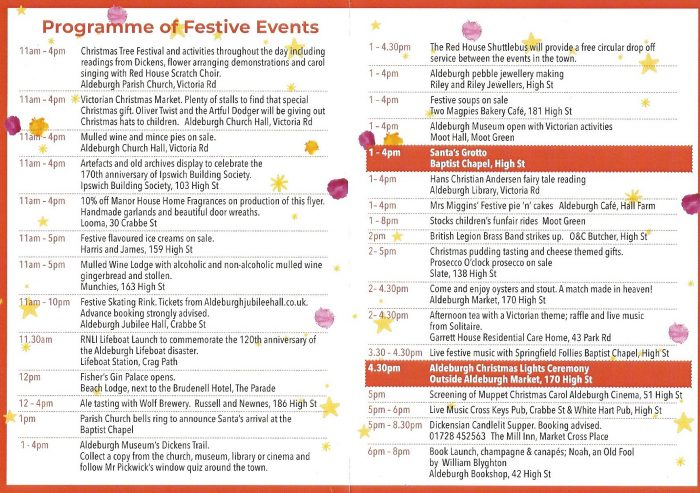 Programme of Festive Events