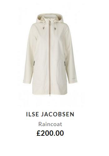 Ilse Jacobsen Raincoat £200.00