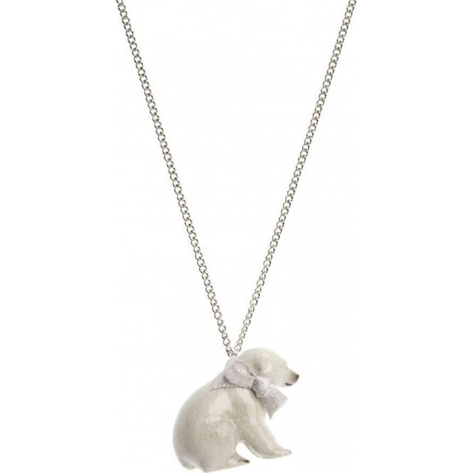 And Mary Baby Sitting Polar Bear Necklace