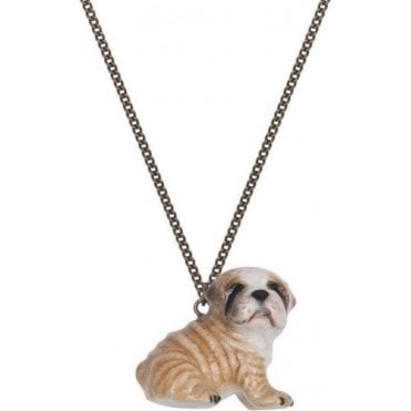 Norman The Bulldog Puppy Necklace