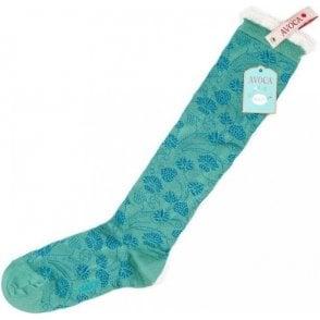 Flora Knee Socks
