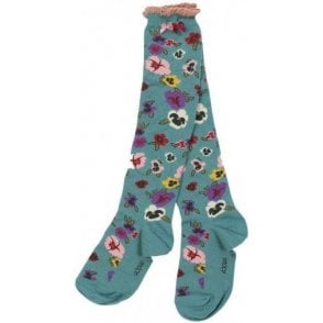 Pansy Blue Socks