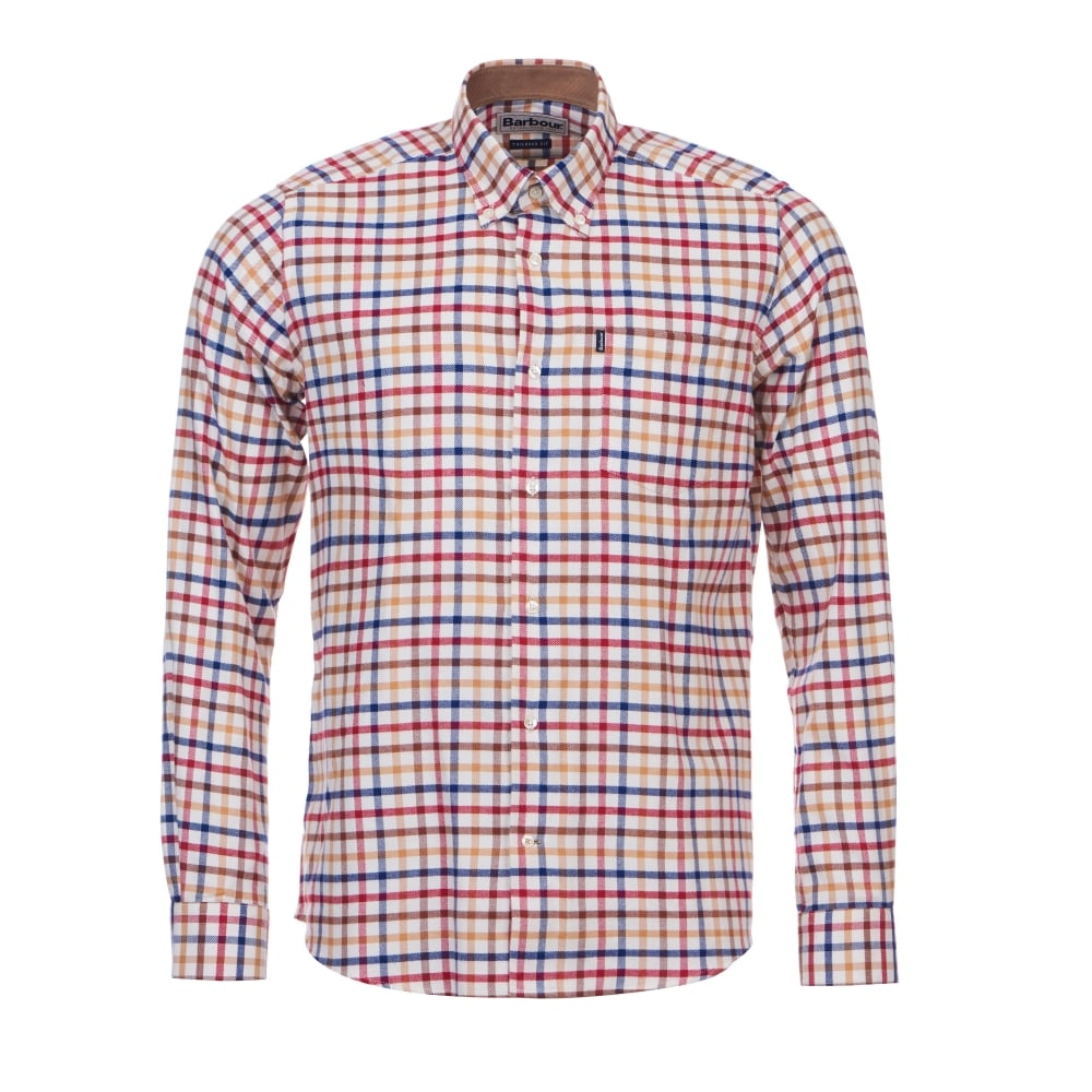 Barbour albert tailored shirt mens shirts o c butcher for Tailored fit shirts meaning