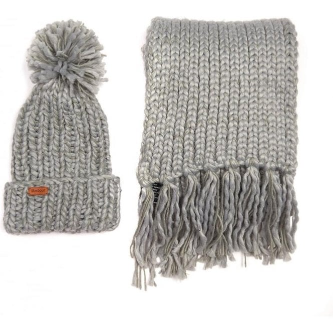 Barbour Chunky Knit Hat & Scarf Set