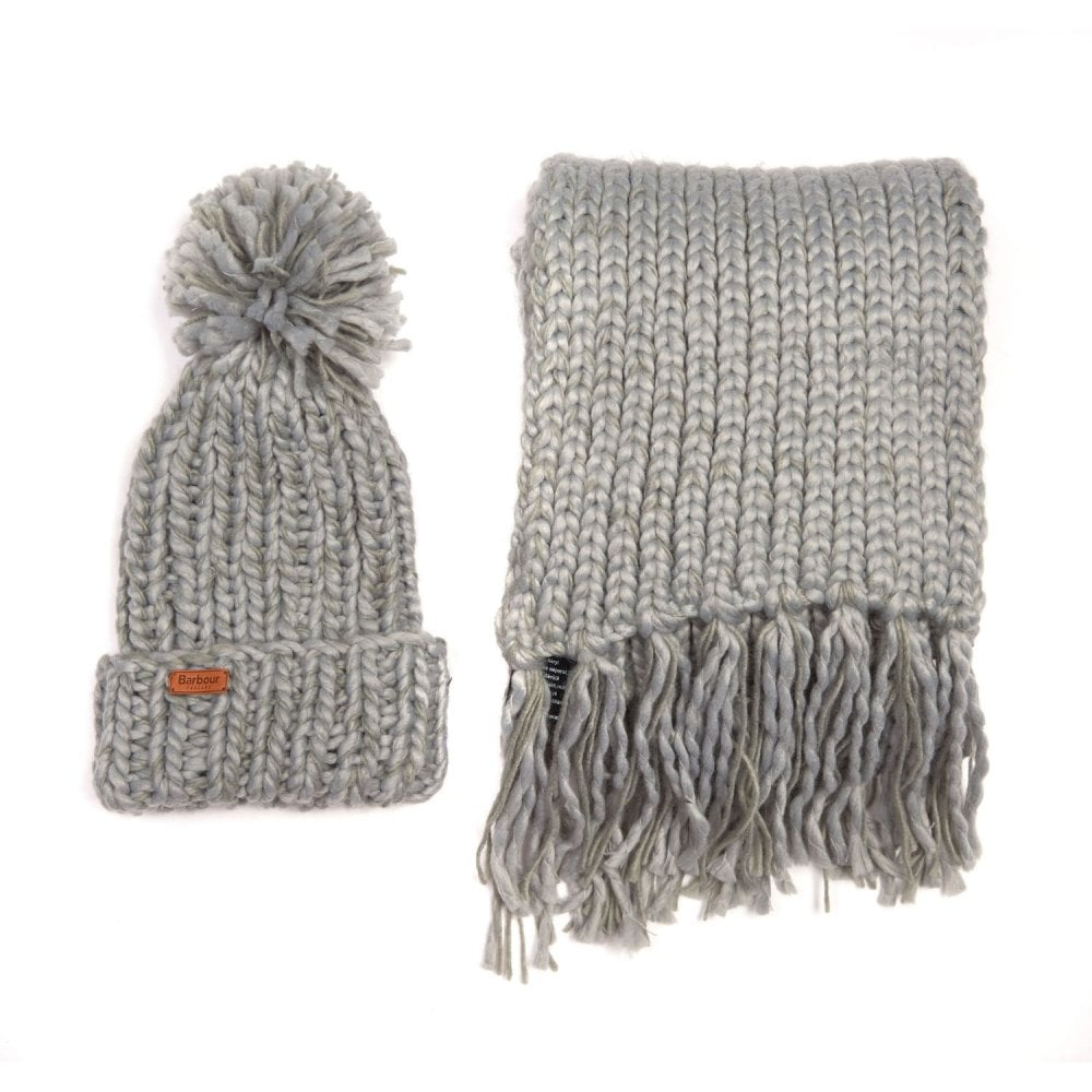 7d424df10c4a5d Barbour Chunky Knit Hat & Scarf Set - Womens Accessories: O&C Butcher