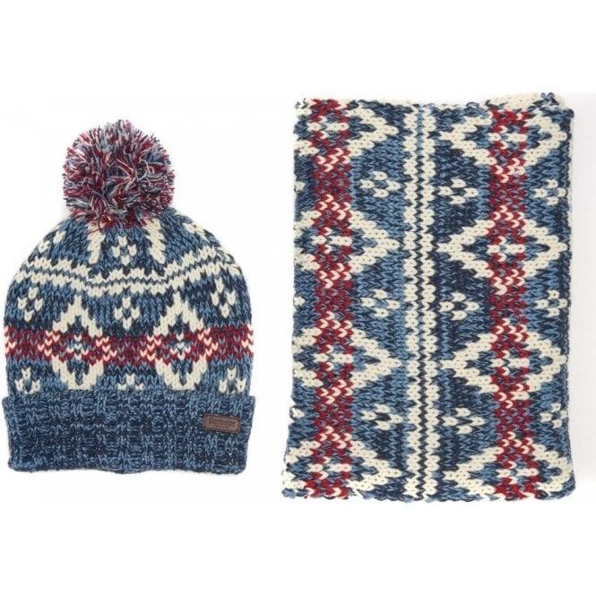 Barbour Coastal Hat & Scarf Set