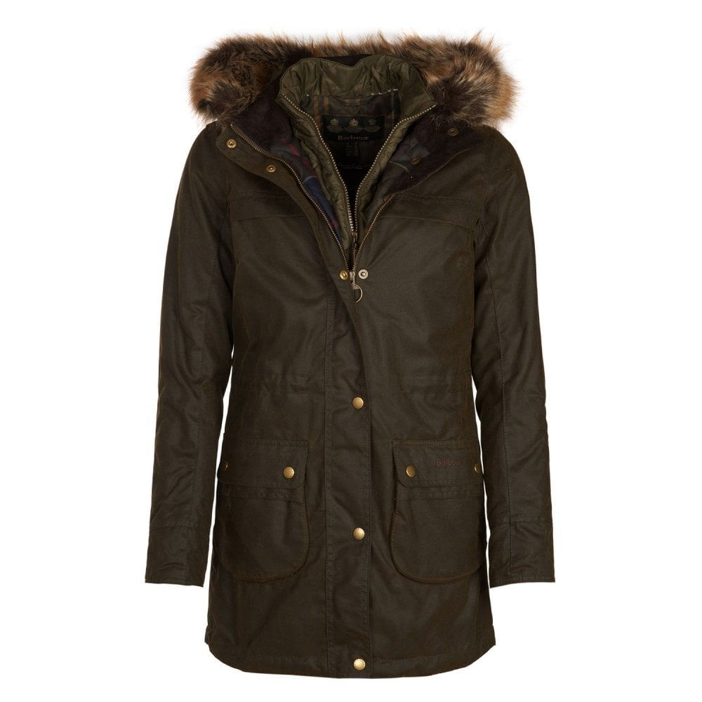 Barbour Dartford Waxed Cotton Jacket Womens Coats