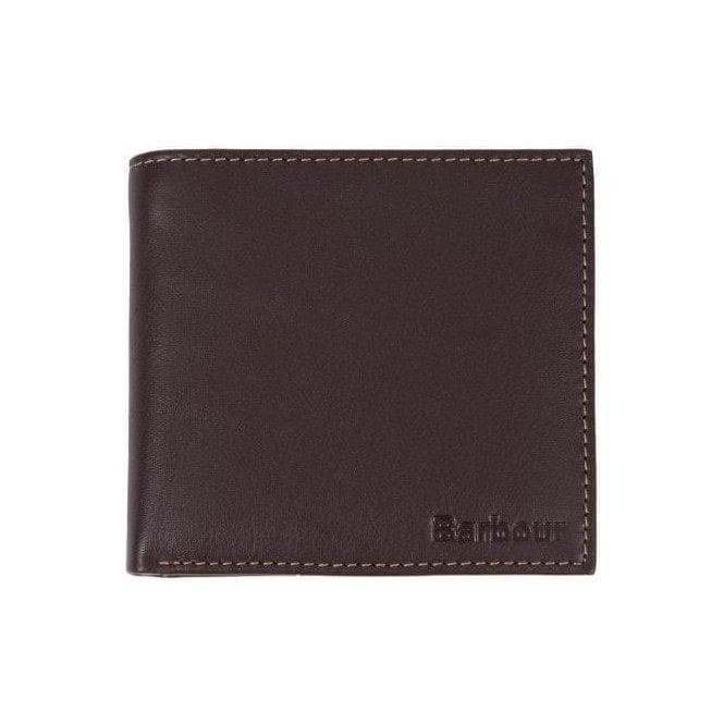 Barbour Elvington Leather Billfold Coin Wallet