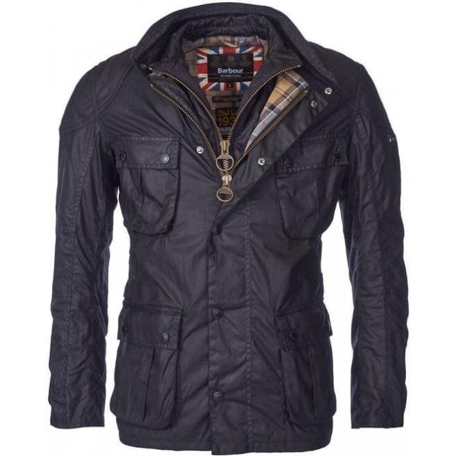 Barbour International Gauge Tailored Fit Wax Jacket