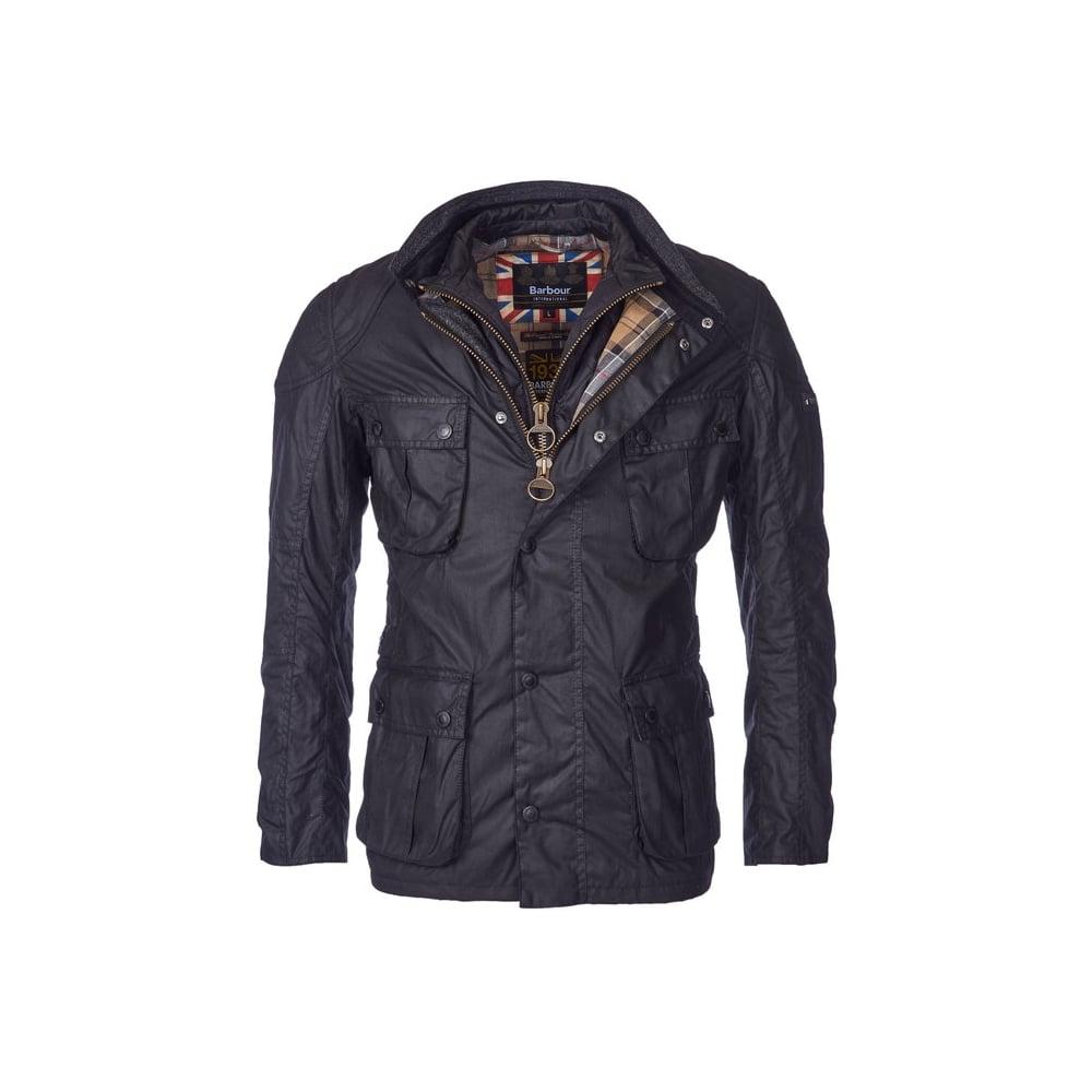 Barbour International Gauge Tailored Fit Wax Jacket - Mens ...