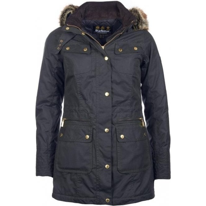 Barbour International Mallory Wax Parka Jacket