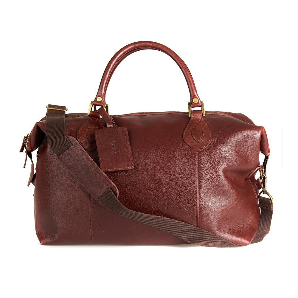 a8c8ae601ec Barbour Leather Medium Travel Explorer Bag