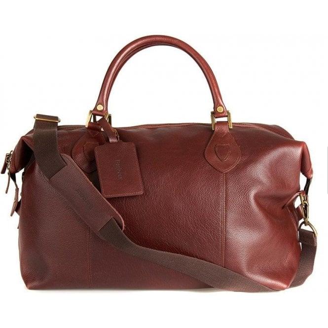 Barbour Leather Medium Travel Explorer Bag