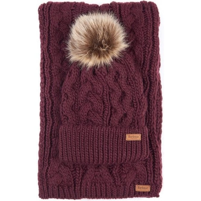 Barbour Penshaw Beanie & Scarf Set