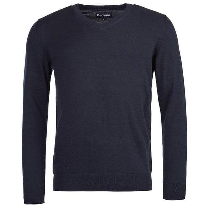 Barbour Pima Cotton V-Neck Sweater
