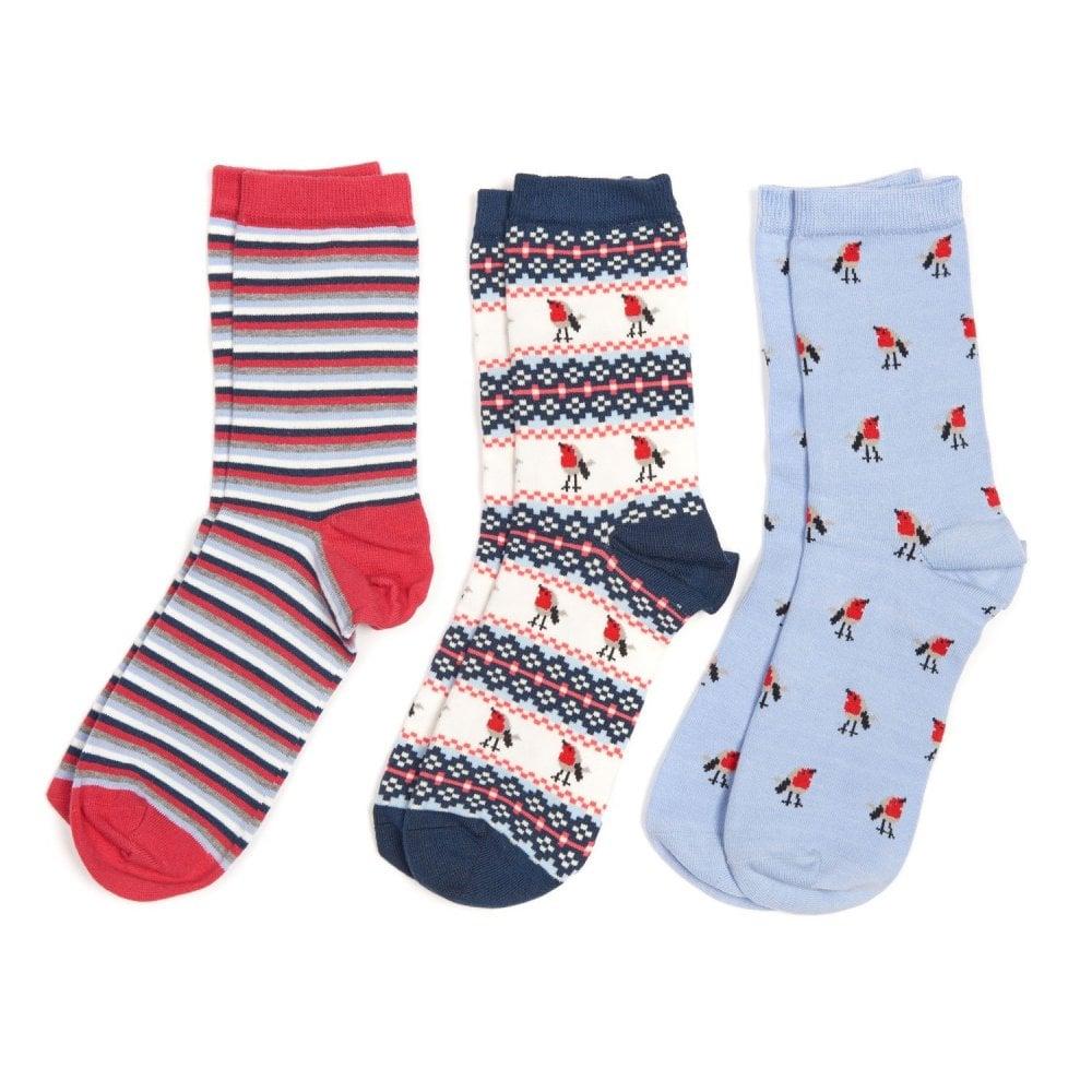 Robin Christmas Sock Gift Box Set