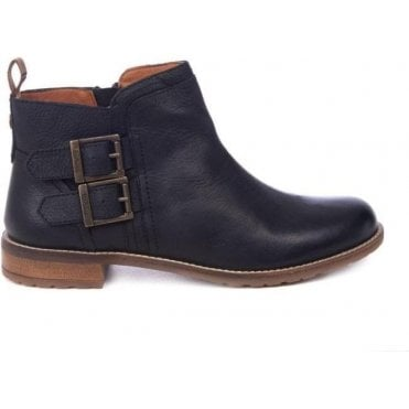 Sarah Low Buckle Boots