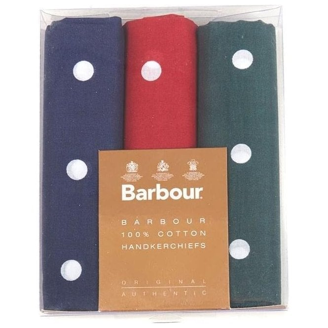 Barbour Spotted Hankies - Boxed Set