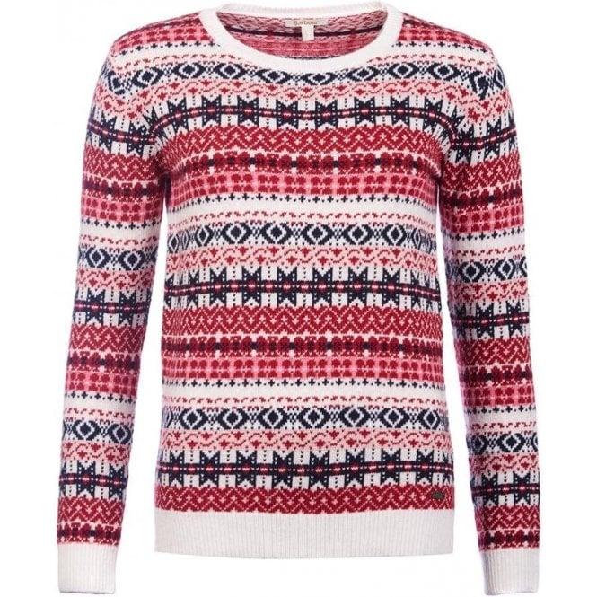 Barbour Tarn Fairisle Crew Neck Sweater - Womens Knitwear: O&C Butcher