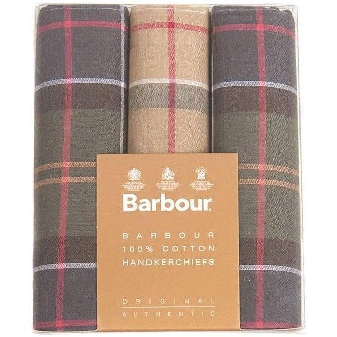 Barbour Tartan Handkerchiefs - Boxed Set