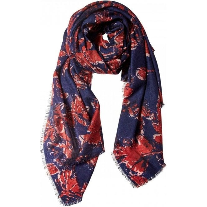 Bella Ballou AUTUMN LEAVES wool scarf