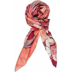 FLOWER ME SOFTLY silk scarf