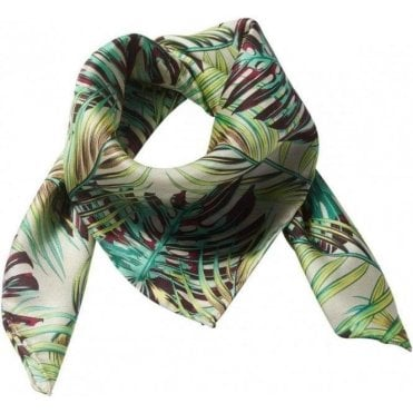 PALM LEAVES silk scarf