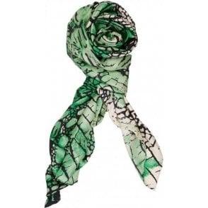 REPTILE silk scarf