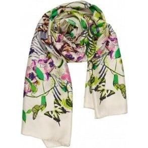 TROPICAL SYMMETRY silk scarf