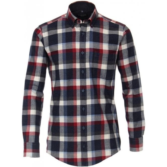 Casa Moda Melange Checked Shirt