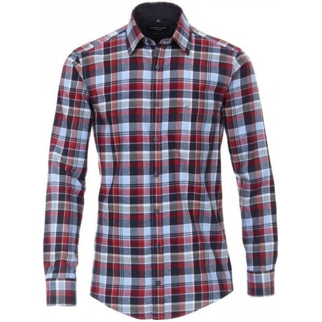 Casa Moda Melange Checked Shirt