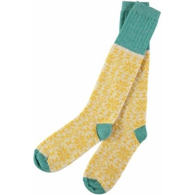 Catherine Tough Lambswool Fair Isle Knee Socks