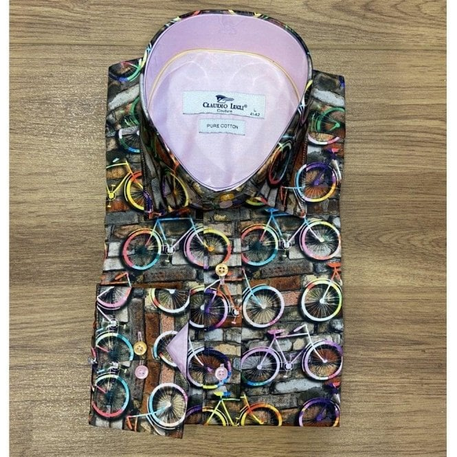 Claudio Lugli Bicycle Print Long Sleeved Shirt