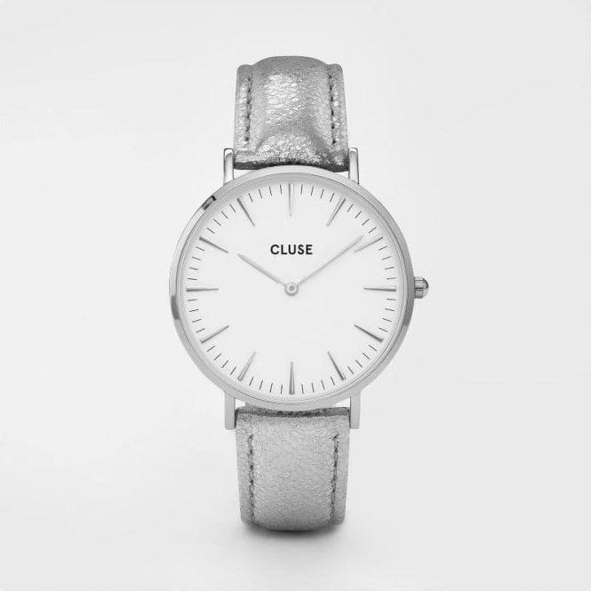 CLUSE La Bohème Silver White/Silver Metallic