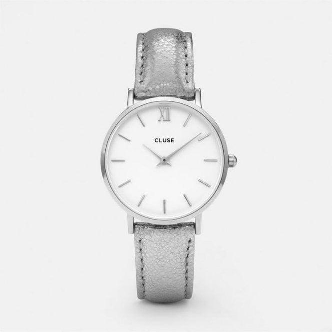 CLUSE Minuit Silver White/Silver Metallic