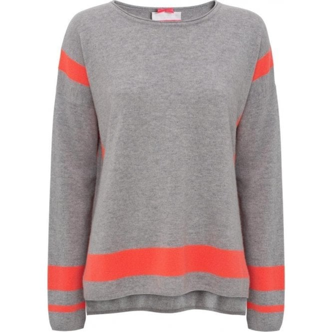 Cocoa Cashmere Colour Block Intarsia Sweater