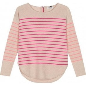 Striped Curved Hem Jumper