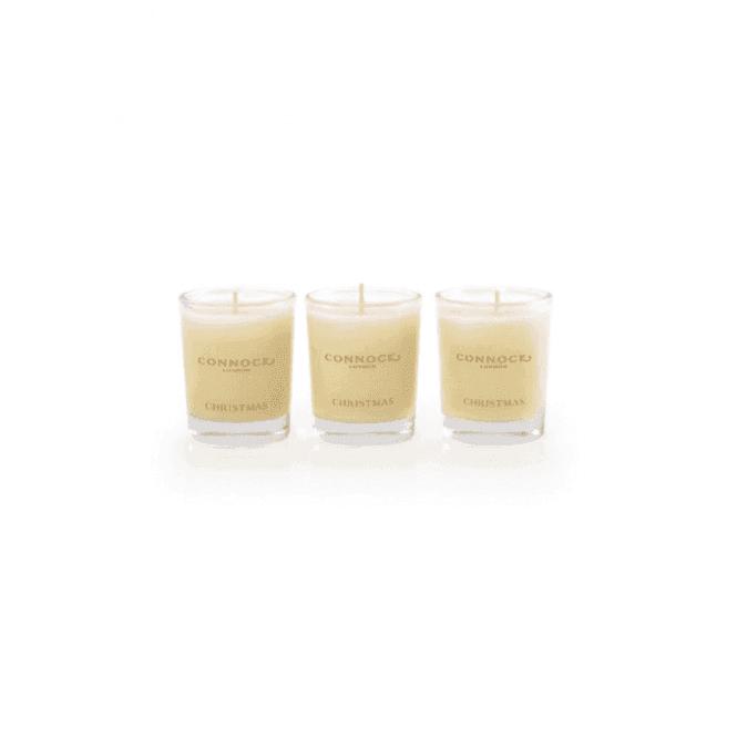 Connock Christmas Travel Candle Trio