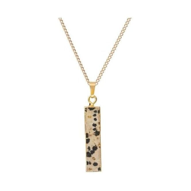 Decadorn Dalmatian Bar Shaped Pendant Necklace