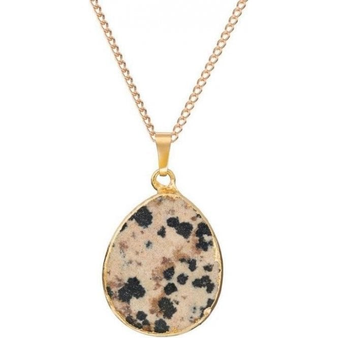 Decadorn Dalmatian Oval Shaped Pendant Necklace