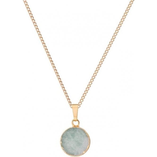 Decadorn Mini Circle Jasper & Jade Pendant Necklace