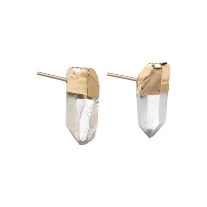 Decadorn Mini Raw Point Quartz Stud earrings